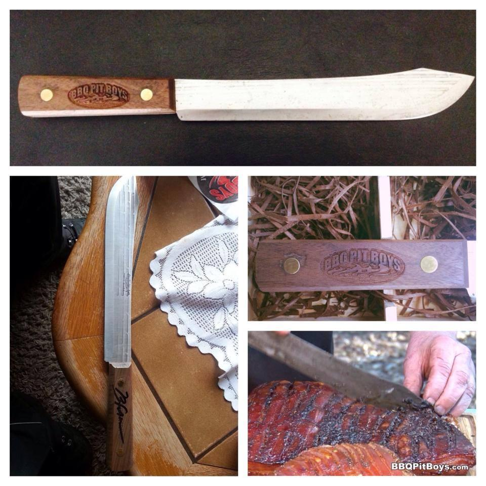 Limited BBQ Pit Boys Engraved 14- inch Old Hickory Butcher Knife