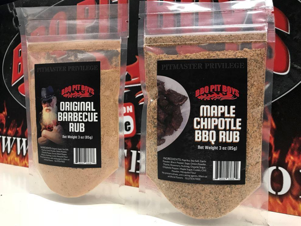 BBQ Pit Boys Dry Rubs - Combo Pack with Original & Maple