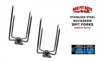 HEAVY Duty Stainless Steel Grill Rotisserie Spit Forks