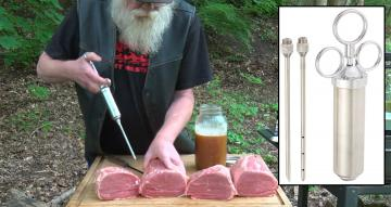 Stainless Steel Meat Injector w/ Needles