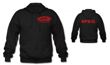 BBQ Pit Boys Zipper Hoodie with BPB4L on Back
